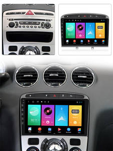 Mirror Link Unit Navigation-Head 408 Car-Stereo Wifi MEKEDE Peugeot 308 64G for