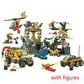 10712 Ungle джунгли разведка строительный блок игрушки детские подарки города совместимы с городскими джунглями 60161 рождественские подарки