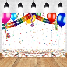 Yeele Birthday Celebrate Ballon Ribbon Glitters Party Photography Backdrop Photographic Studio Photo Background Decorations Prop