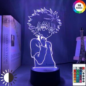Night-Lamp Bedroom Decor Manga Gift 3d Anime Hunter-X-Hunter Kids Child