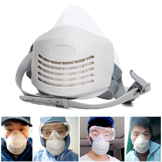 Anti Dust PM2.5 Mask Respirator Mask Industrial Protective Silicone Mask and Replaceable Cotton Anti-Dust Breathable Mask Filter