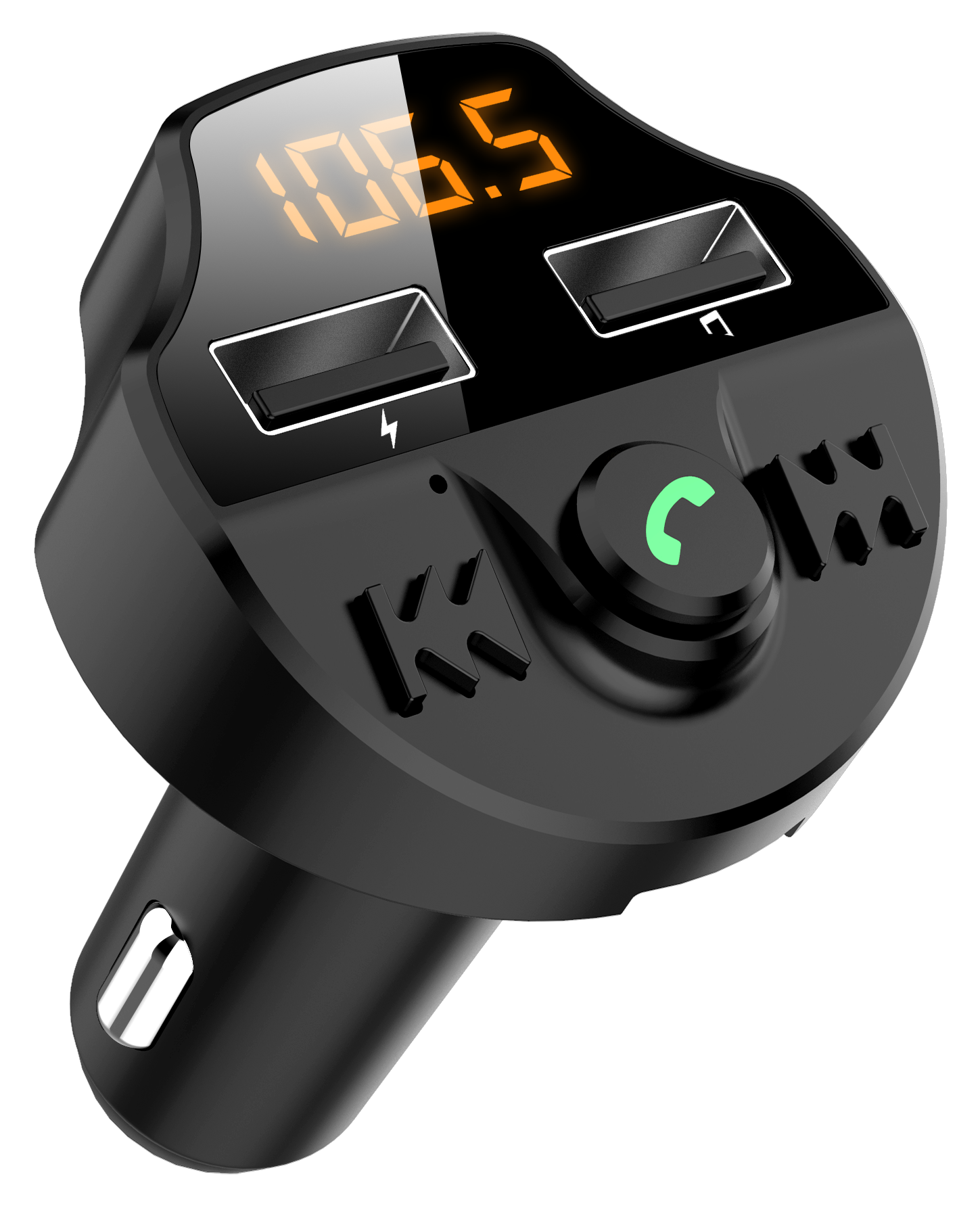KORSEED samochodowy nadajnik FM, Bluetooth 5.0, Mp3, napięcie baterii Adapter, karty TF, bezprzewodowy, podwójny USB inteligentny Chip