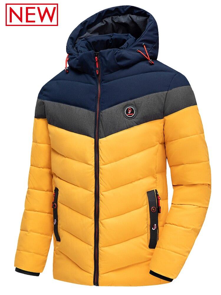 Waterproof Jacket Hat Outwear Parkas Warm Autumn Thick Casual Men New Brand-New