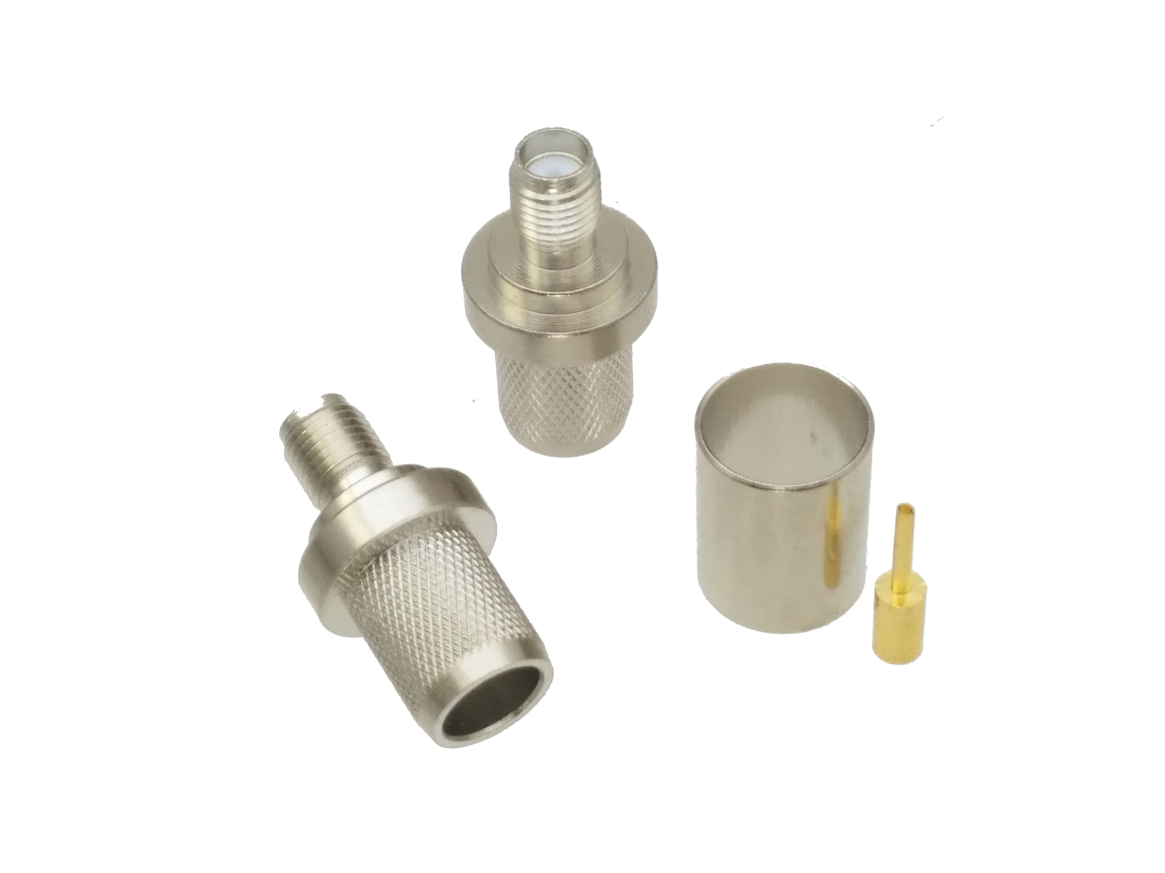 Connector SMA Female Jack Crimp RG8 RG213 LMR400 RG214 Cable Nickel Plated