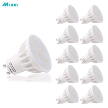 Spot Light Dimmable GU10 Base 6W LED Lamp Beautiful 6000K 500lm Day White 50W Replacement for Halogen Bulb Room Hotel 10PACK