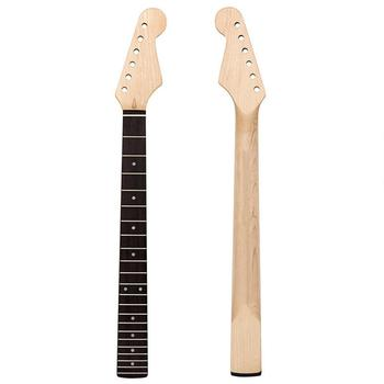 цена на 22 Electric Guitar Neck Maple Neck + Rosewood Fingerboard Without Back Midline for Fender ST Strat 30DC10