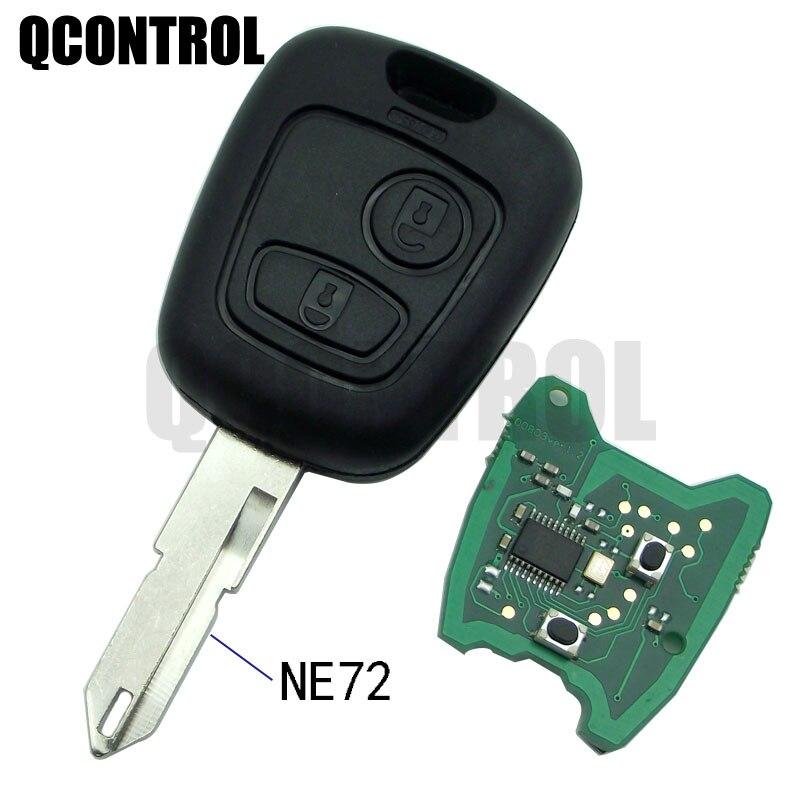 QCONTROL Автомобильный Дистанционный Ключ DIY для PEUGEOT 206 207 Полный Автомобильный ключ NE72 blade