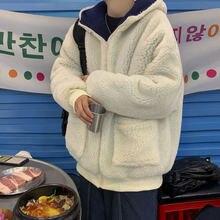 В Корейском стиле; Из овечьей шерсти куртка для мужчин; Теплые