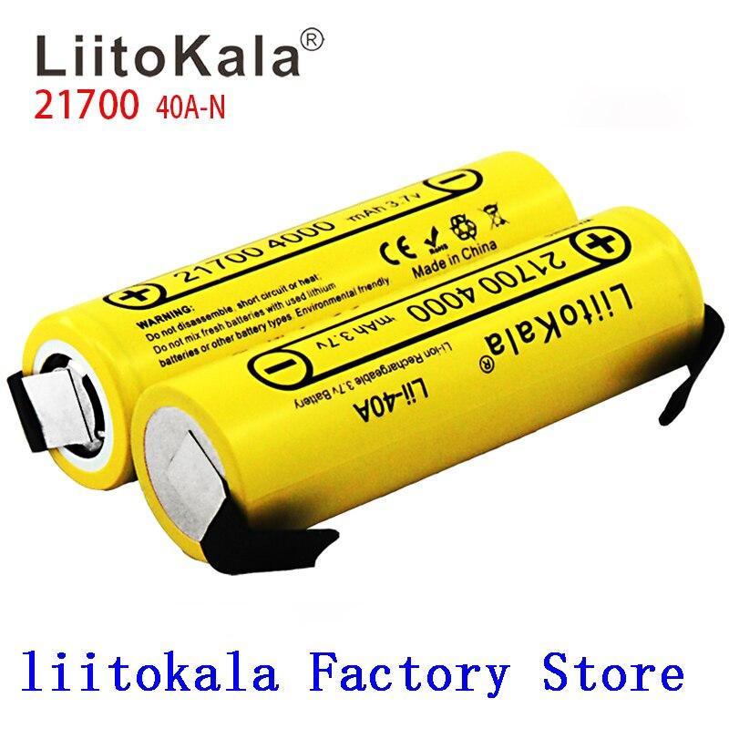 NEW LiitoKala Lii-40A-N 21700 4000mah Li-Ni Battery 3.7V 40A  3.7V 30A Power 5C Rate Discharge
