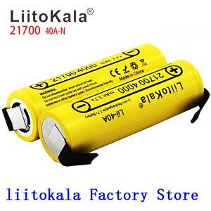 Image 1 - Nieuwe Liitokala Lii 40A N 21700 4000 Mah Li Ni Batterij 3.7V 40A 3.7V 30A Power 5C Tarief Ontlading