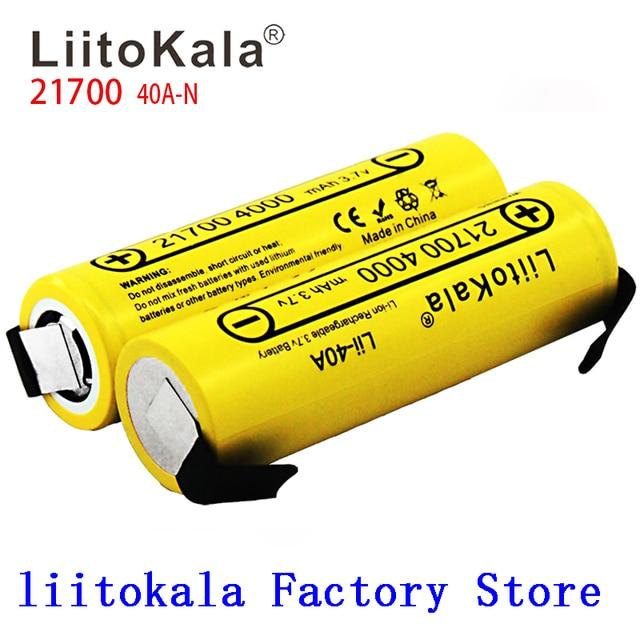 Nieuwe Liitokala Lii 40A N 21700 4000 Mah Li Ni Batterij 3.7V 40A 3.7V 30A Power 5C Tarief Ontlading