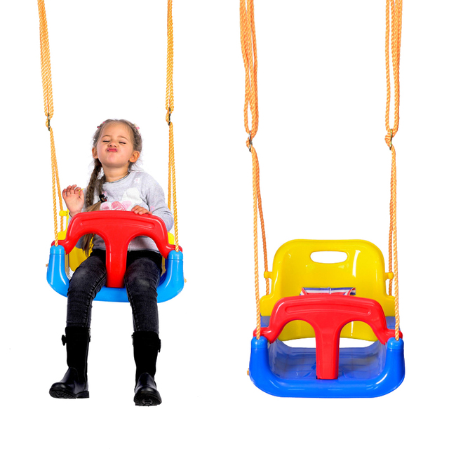 3 in 1 Kids Swing Toys Anti-skid Hanging Swing Chair Sport ItemToys for Children Baby Swings Set Indoor Outdoor Toys Trapeze 1