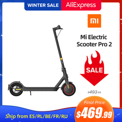 Xiaomi Mi Electric Scooter Pro 2 Original Lightweight Mijia Foldable Skateboard Max Speed 25km/h Distance ABS 12800mah