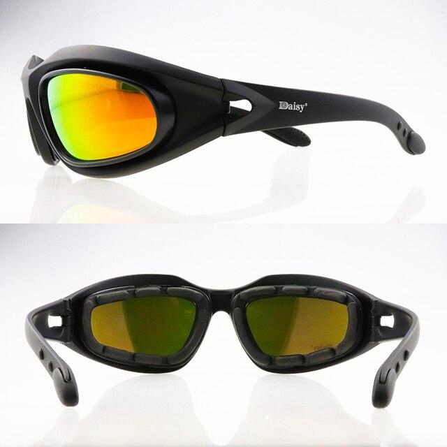 C5 polarizado óculos de proteção tático photochromic ciclismo uv400 airsoft óculos de segurança esportes ao ar livre óculos de sol 4