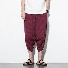 Aoliwen brand Summer men harem pants overalls men casual hip-hop skateboarding overalls overall pants seven-point jogging pants