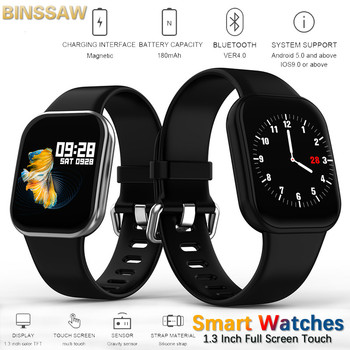 Men's Smart Watches full Touch Screen Waterproof Bluetooth Smartwatch Fitness Tracker Men's Blood Pressure Wristband Android IOS