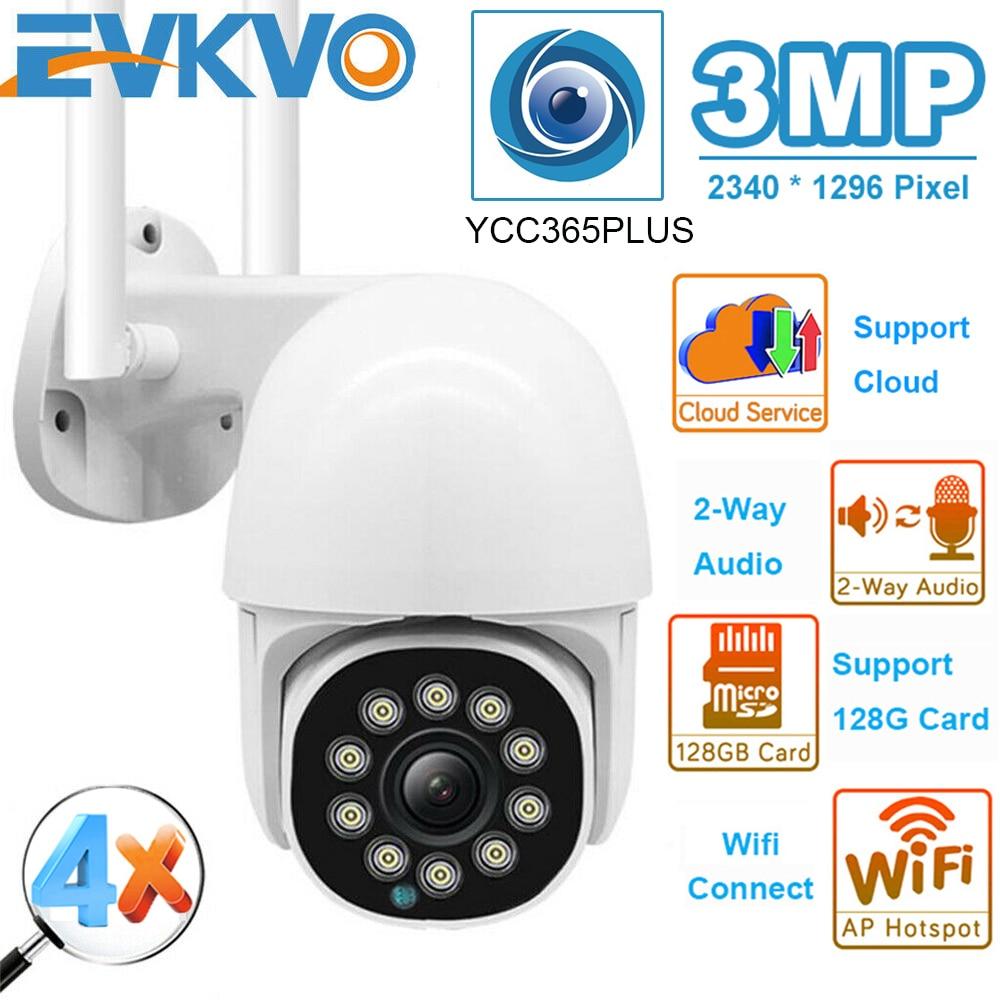 Caméra de surveillance dôme extérieure PTZ IP Wifi HD 3MP/10led (YCC365), dispositif de sécurité sans fil, avec suivi automatique et sirène et alarme