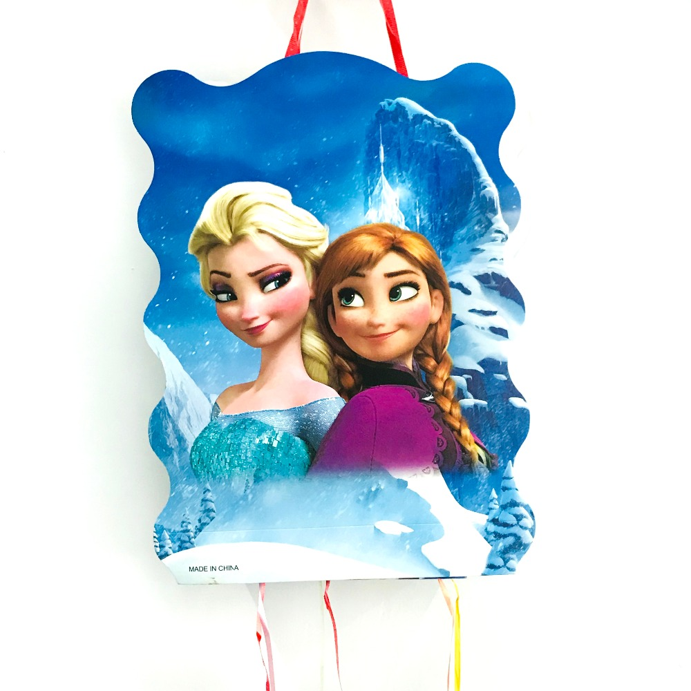 40*30cm   Freezing Anna Elsa Pinata Party Supplies Kids Disposable Plastic Children's Birthday Girls Party Favors