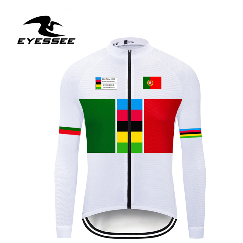 Bicycle Jersey Portugal Road-Cycling Team Long-Sleeve Ropa-Ciclismo Autumn Men EYESSEE