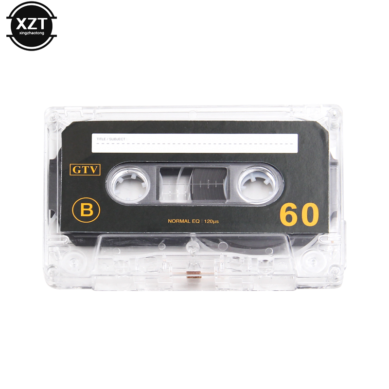New Standard Cassette Blank Tape Empty 60 Minutes Audio Recording For Speech Music Player