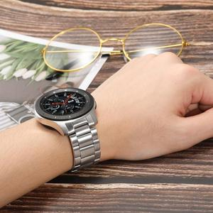 Image 5 - יד להסרה נירוסטה רצועת השעון + אין פער Soild קליפים עבור Samsung Galaxy שעון 46mm/ציוד S3 מהיר שחרור להקת רצועה