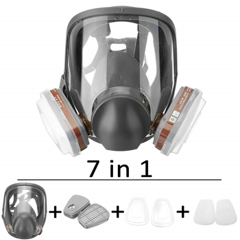 7PCS Protection Safety Respirator Gas Mask same For 6800 Gas Mask Painting Spraying Full Face Facepiece Respirator PM006 high quality respirator gas mask modular strengthen protection protective mask painting pesticide industrial safety gasmaske