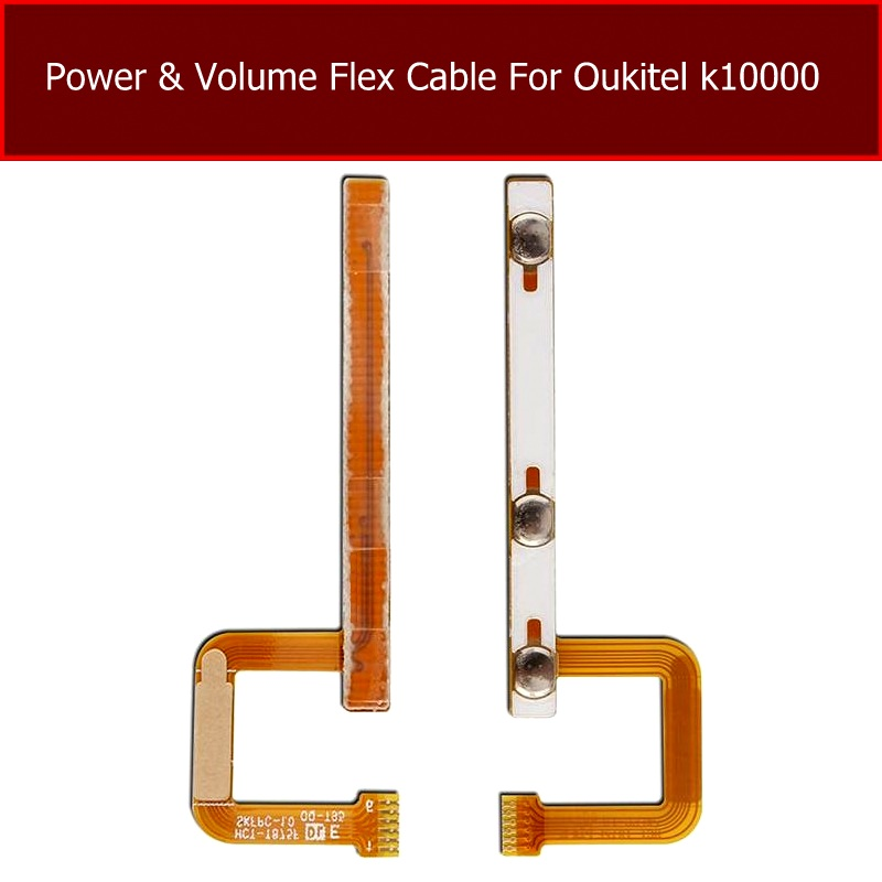 Volume & Power Flex Cable For OUKITEL K10000 Switch On/off Power Control Flex Cable Audio Down And Up Button Spare Parts