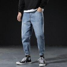 Fashion Streetwear Men Jeans Loose Fit Vintage Designer Denim Harem Pants Big Size 28-42 Korean Style Hip Hop Jeans Men Trousers