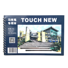 TOUCHNEW 30 Sheets 150gms A5 Marker pad Sketchbook Drawing Notebook White Paper School Stationery Notepad Notitieboek Cuaderno