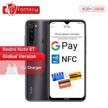 Купить Новое поступление, глобальная версия Redmi Note 8 T 8 T, 4 Гб ОЗУ 128 Гб ПЗУ, Восьмиядерный Snapdragon 665, 6,3 дюйма, FHD + экран, 4000 мАч, 18 Вт, QC NFC