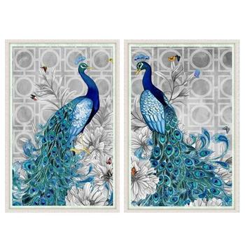 DPF diamond embroidery 5D Round diamond Peacock diamond painting cross stitch Round Special-shaped Diamond Mosaic for gift image