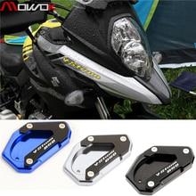 Для Suzuki V-Strom 650 DL650 2012- Мотоцикл CNC подножка боковая подставка Vergroter Plaat удлинитель