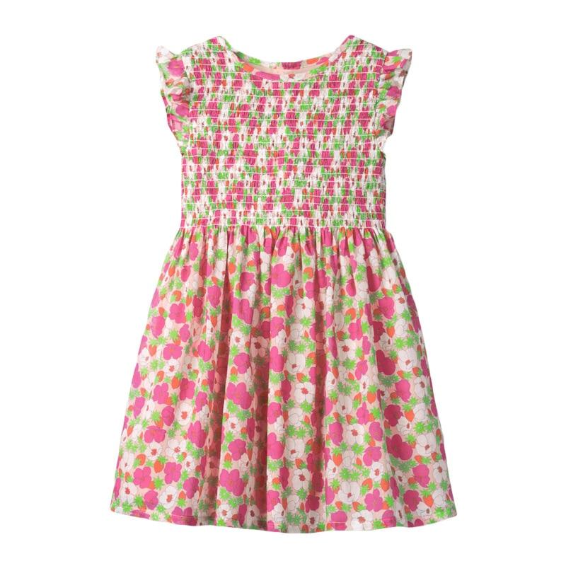 Little Maven Baby Girls Dress Floral Print Children Party Dresses Vestidos Little Girls Beach Vest Daily School Dress Cotton