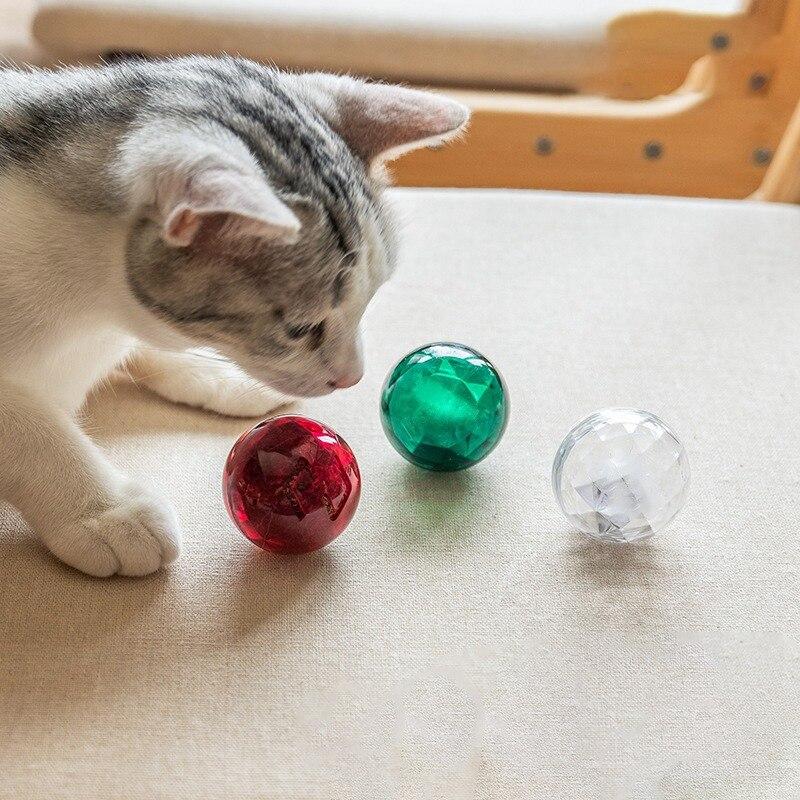 Интерактивная игрушка для кошек, забавная игрушка в виде мяча, кошачья мята, котенок, жевательная игрушка, игрушка в виде колокольчика для к... - 2