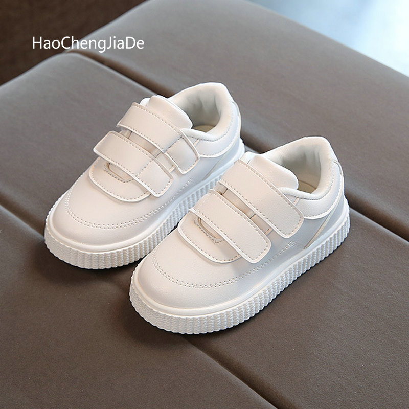 2020 New Fashion Baby Casual Shoes Kids Spring Boy Sneakers Shoe Toddler Pu Leather Children Shoe Black White 1 2 3 4 5 6 Years