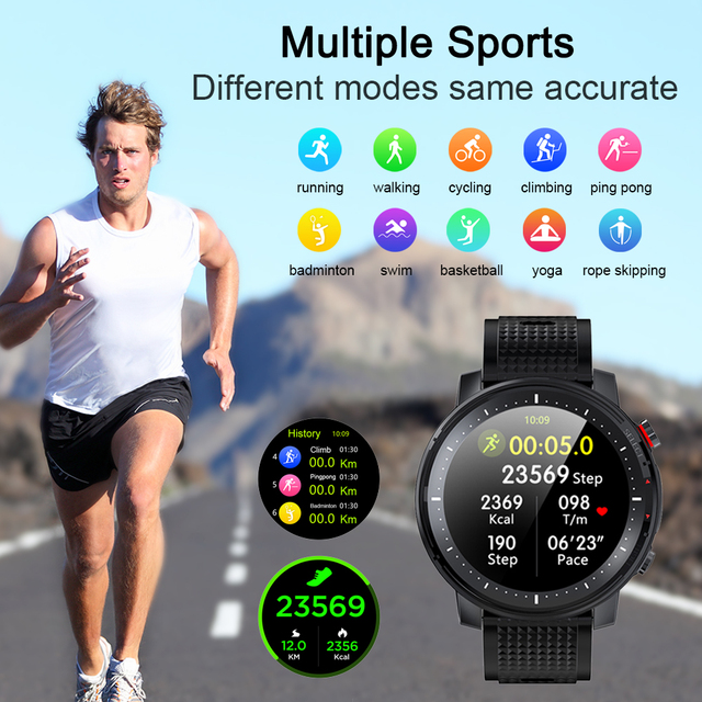 MELANDA 2021 Full Touch Smart Watch Men Sports Clock IP68 Waterproof Heart Rate Monitor Smartwatch for IOS Android phone MD15 5