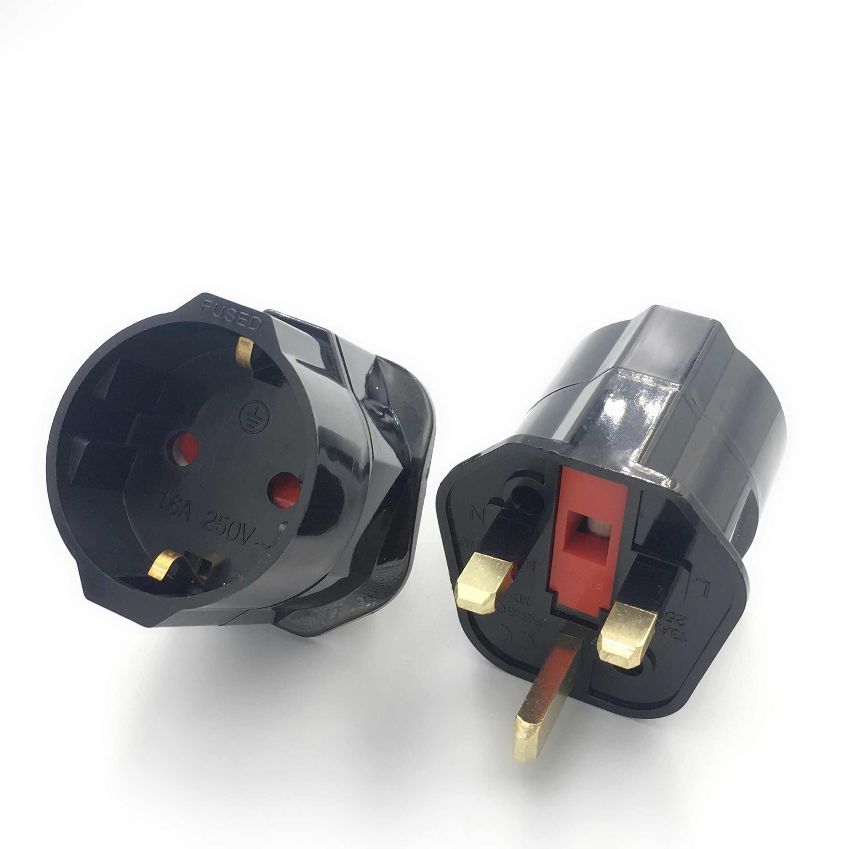 ЕС ЕВРО 2 Pin английская вилка с 3 зубцами Универсальный адаптер переменного тока для путешествий конвертер Европейский 250V 16A адаптер для путешествий