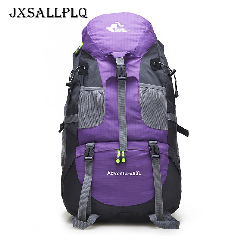 50L Outdoor Mountaineering Bag Fashion Tactical Backpack PVC Waterproof Outdoor Sports Backpack Hiking Camping Travel Bag