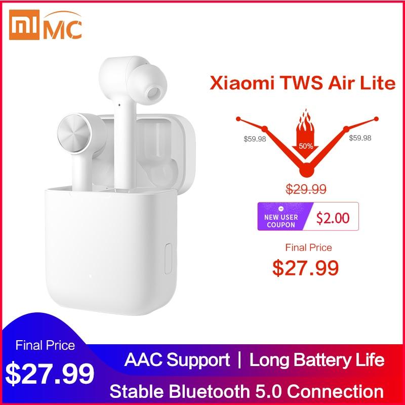 Original Xiaomi Mi True Wireless Earphones Lite TWS Bluetooth In Ear Headset Air Lite Stereo AAC