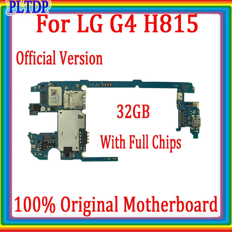 For <font><b>LG</b></font> G4 <font><b>H815</b></font> 100% Original <font><b>Motherboard</b></font> With Full Chips Unlocked Logic <font><b>MotherBoard</b></font> ,Full Test Good Working,Free Shipping image