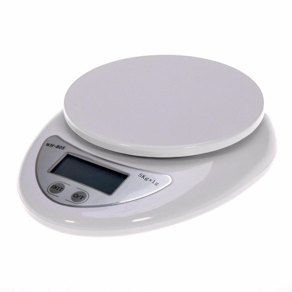 נייד 5kg 1g דיגיטלי סולם LCD אלקטרוני קשקשי Steelyard מאזני מטבח דואר מזון איזון מדידת משקל מאזניים # T