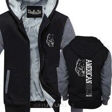 男性厚いジャケット新クール男性暖かいコートアメリカいじめ品種トップスクール厚いパーカーマンブランドトップス厚手の不良っぽい sbz5073