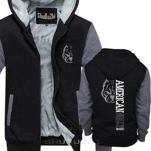 Image 1 - 男性厚いジャケット新クール男性暖かいコートアメリカいじめ品種トップスクール厚いパーカーマンブランドトップス厚手の不良っぽい sbz5073