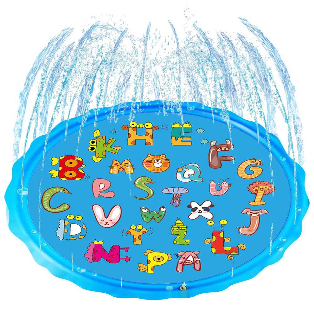 Inflatable Splash Sprinkler Pad 3-in-1 Sprinkler Airtrack Kids Inflatable Trampoline WadingInflatable Pool Toy For Babies