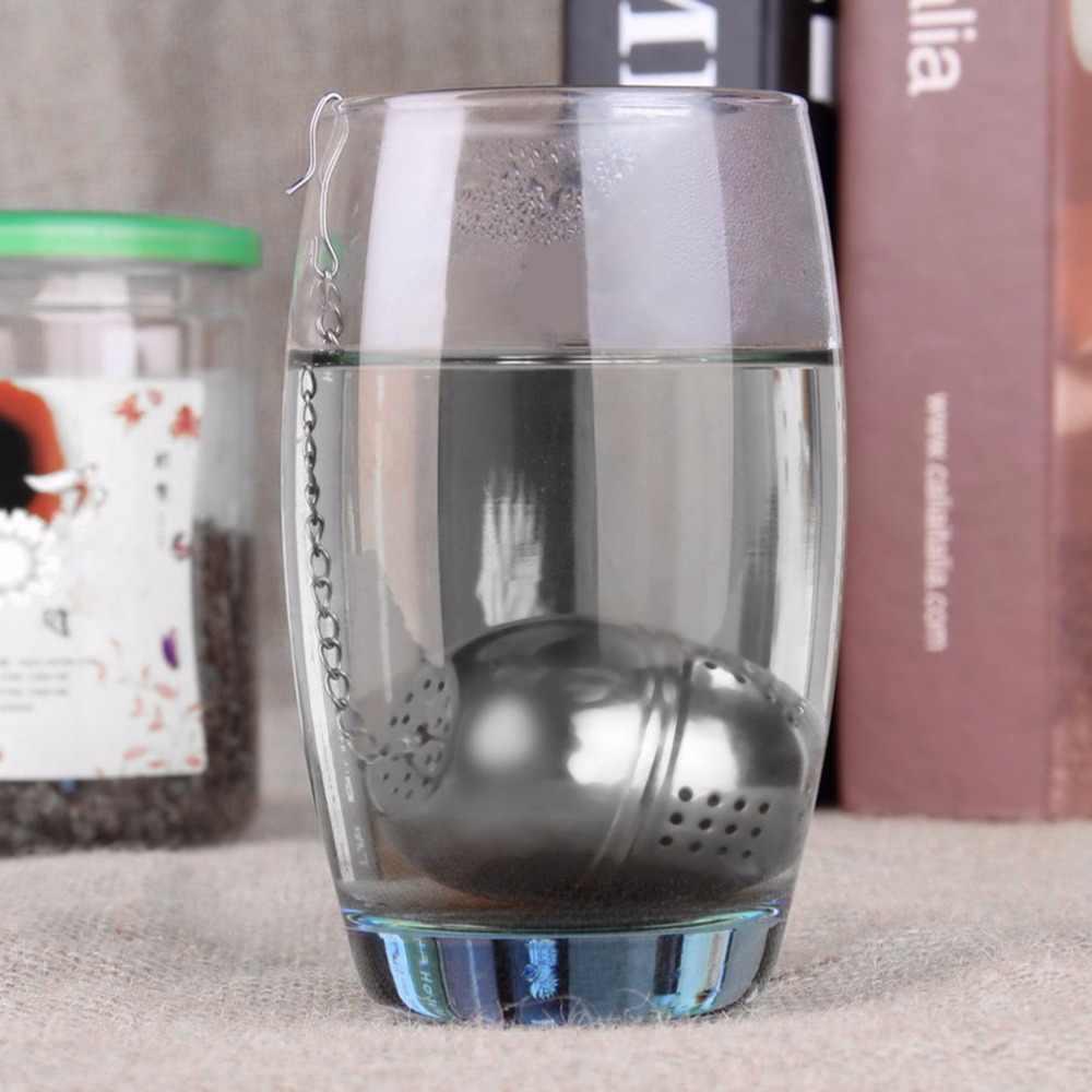 لتقوم بها بنفسك 51-100 مللي الشاي الفولاذ المقاوم للصدأ مصفاة الفلتر الشاي Infuser شبكة الشاي قفل التوابل البيض على شكل الكرة أدوات مطبخ قابلة لإعادة الاستخدام