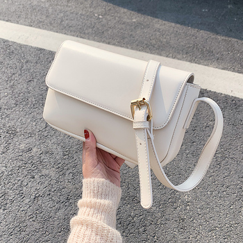 Simple PU Leather Crossbody Bags For Women 2020 Solid Color Shoulder Messenger Handbags Female Cross Body Travel  Bag