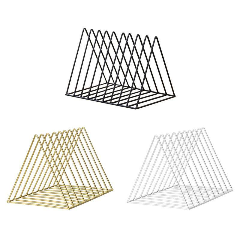 Creative Nordic Wrought Iron 9 Grid File Storage Office Desktop Book Shelf