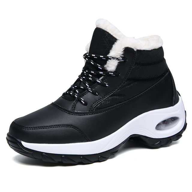 platform black tennis shoes