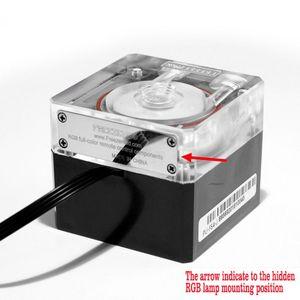 Компьютерное охлаждение ПК кулер для воды бесшумный насос поток 800л/ч контроль температуры