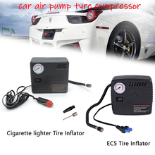 Portable Air Pump for Car Tires DC12V EC5/Cigarette Lighter Air Inflator Compressor Pump with Gauge Car Air Pump Tyre Compressor for volvo car 7h15 air conditioner compressor pump with pulley 11104419 11412632 15082742